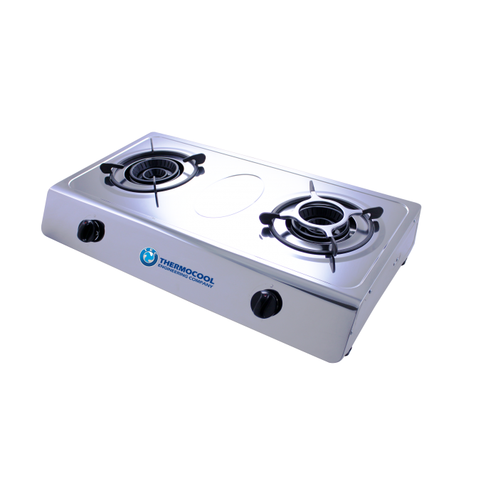 Haier Thermocool 2 Hob Table Top Gas Cooker TGC-2SA Stainless Steel | 100107863