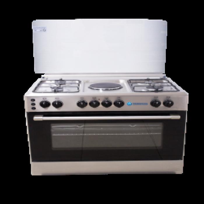 Haier Thermocool 5 Burner Gas Cooker D Madame 904G1E OG-9841 Inox | 100107327
