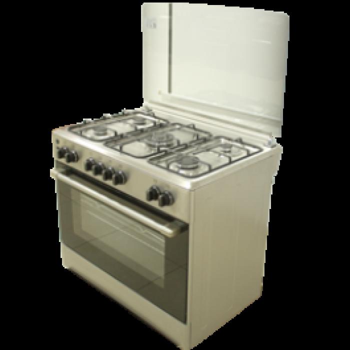 Haier Thermocool 5 Burner Gas Cooker D Madame 905G OG-9850 Inox | 100107326