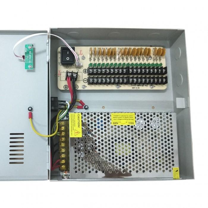 18-Way 12V-20A Power Supply Box (For CCTV)