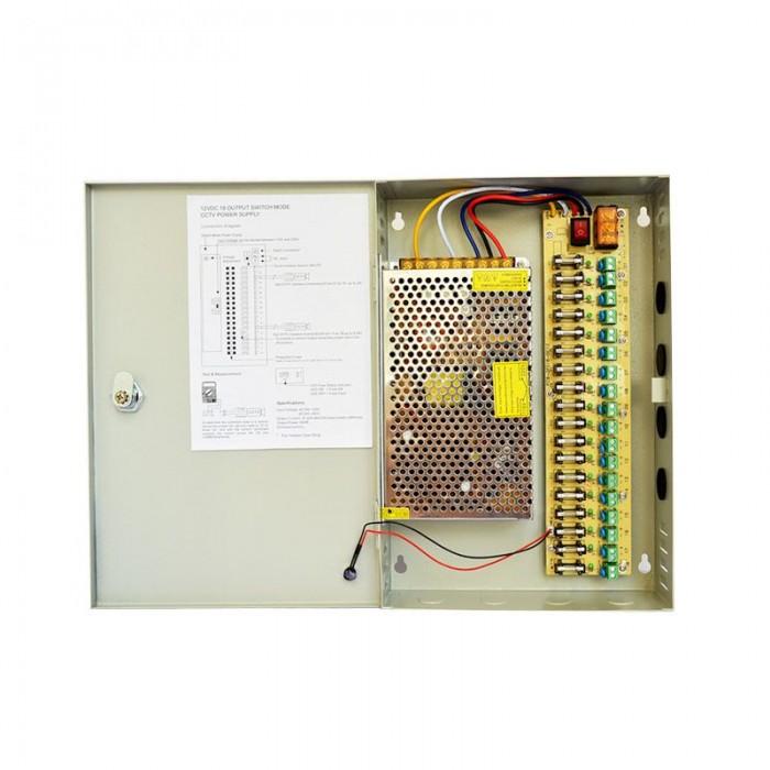 18-Way 12V-30A Power Supply Box (For CCTV)