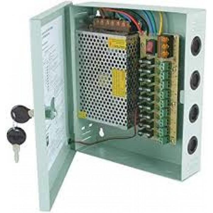 9-Way 12V-10A Power Supply Box For CCTV