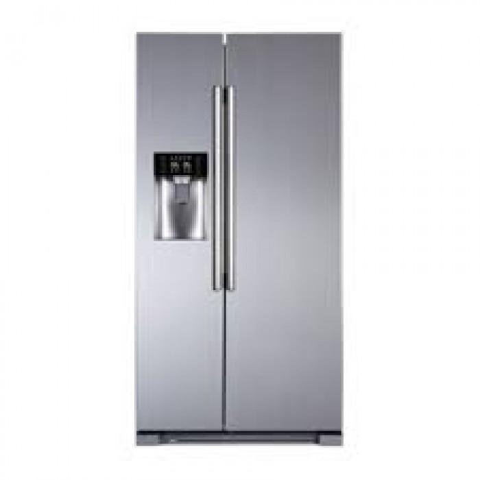 Haier Thermocool SxS (Side by Side) Ffree HRF-540WBS R6 Black Refrigerator  (Inverter SBS Dispenser)