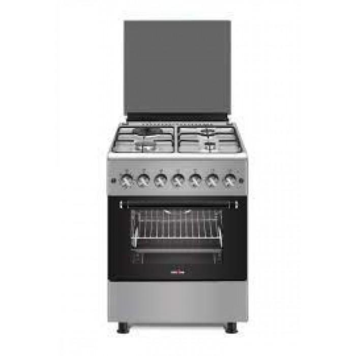 KENSTAR 50X50 Free Standing Oven 3 Gas Burner Hobs Pipe System +1 Hotplate (KS-GCF5055-3B1E)