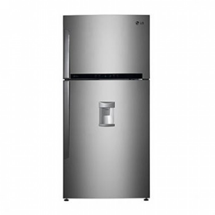 LG 471L Double Door Top Freezer Water Dispenser Refrigerator Silver   REF 502 HLHN-F