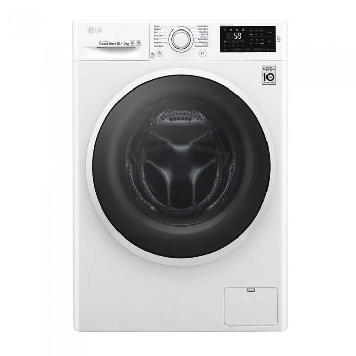 LG 8kg Washer + 5kg Dryer Front Loader Washing Machine   WM 4J6TMP0W