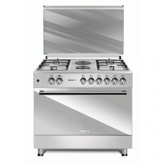 Maxi (4G+2E) Burner 60X90 Standing Gas Cooker   Maxi Style 60*90 (4+2) Inox