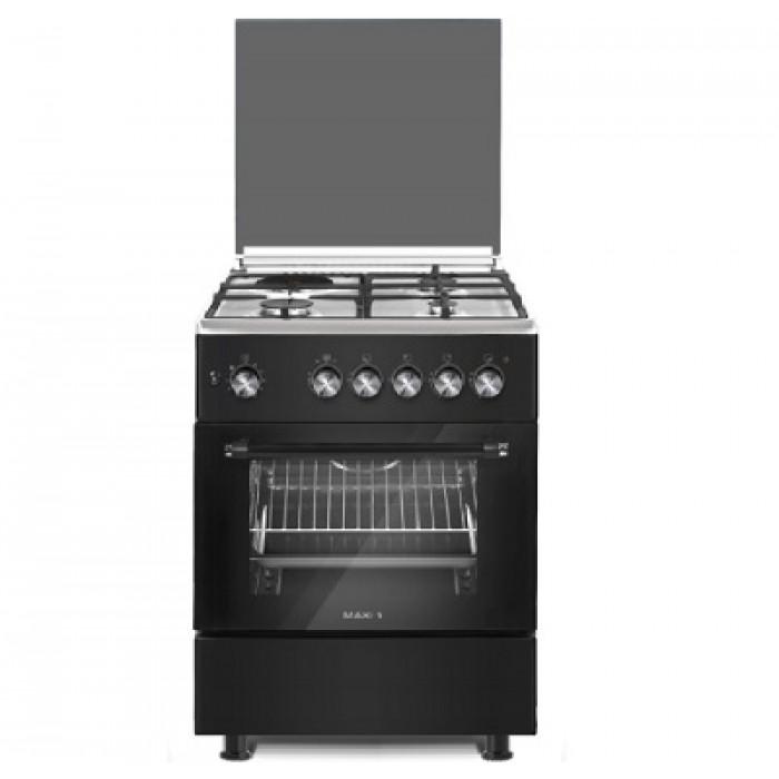 Maxi 4 Burners 60x60 Standing Gas Cooker   Black 6060 4B