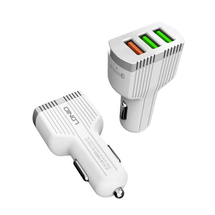 LDNIO 3 IN 1 Car Fast Charger