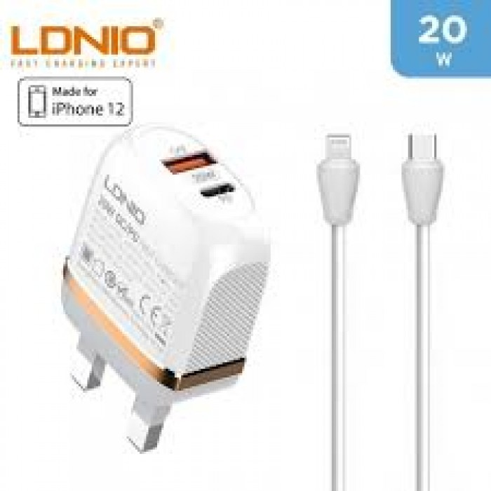 LDNIO 20W PD Fast Charger Type C To iPhone