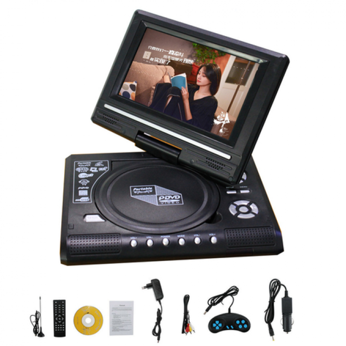 9.8 Portable Rechargeable DVD/CD/TV Player