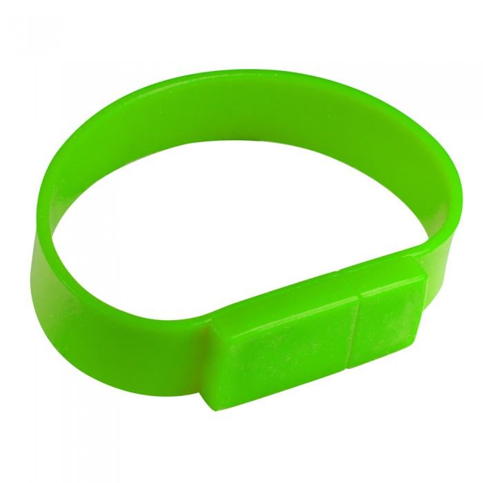 Silicone Wristband Flash Drive 16GB Green