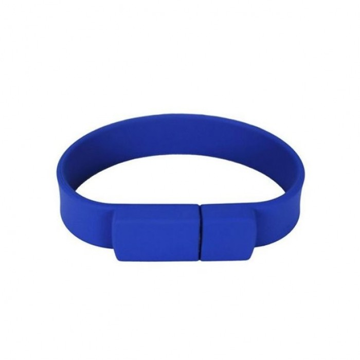 Silicone Wristband Flash Drive 16GB Navy Blue