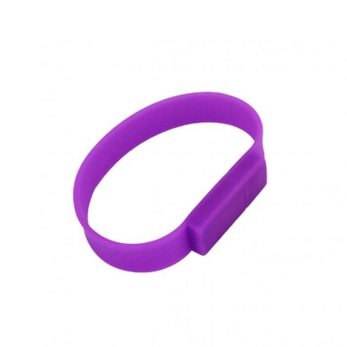 Silicone Wristband Flash Drive 16GB Purple