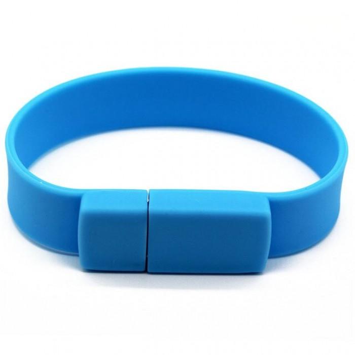 Silicone Wristband Flash Drive 16GB Sky Blue