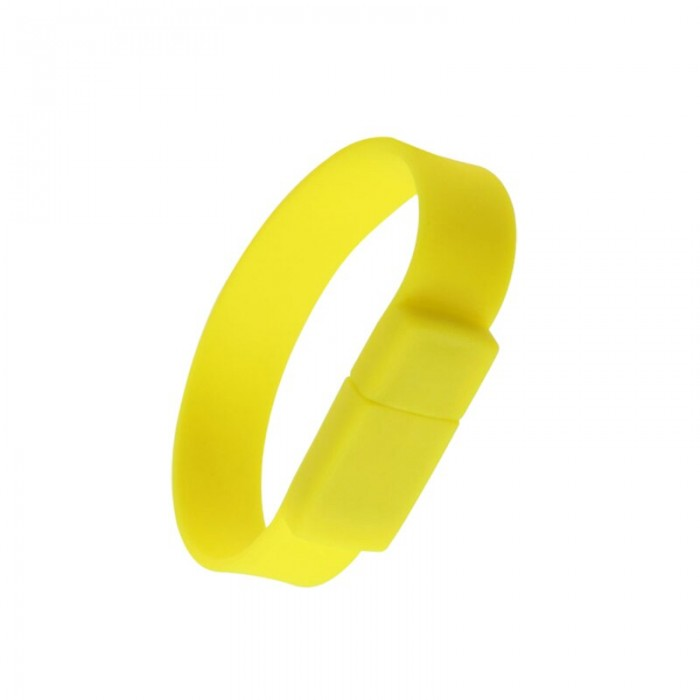 Silicone Wristband Flash Drive 4GB Yellow