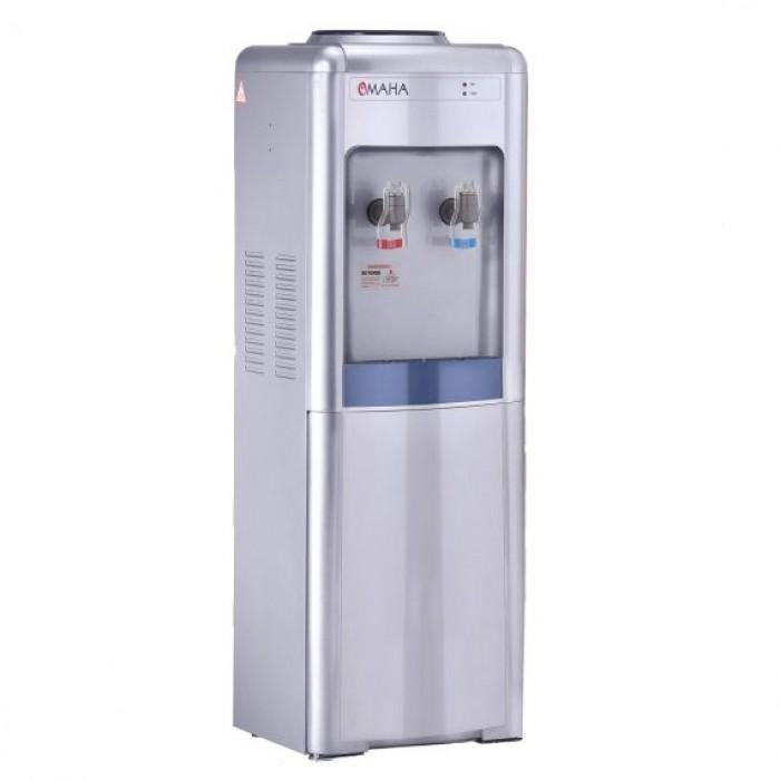 Omaha Double Door Water Dispenser/Fridge Black Glass Finishing | OWN-212FB
