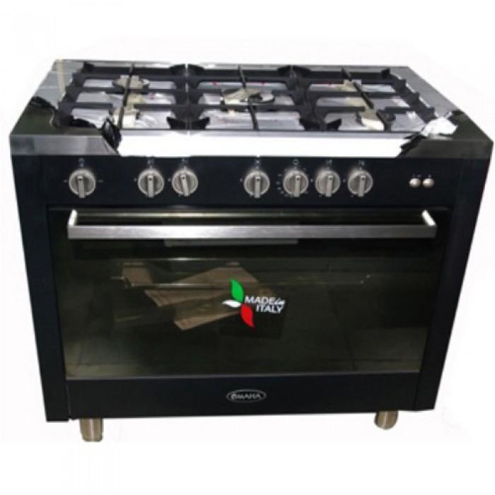 Omaha 100X60 5 Burners Gas Cooker Black   02179ASS