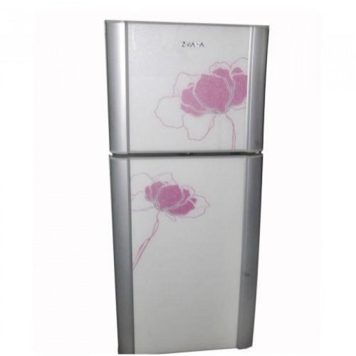 Omaha Double Door Water Dispenser/Fridge With Flowering Glass Finishing | OWN-6VN20RS
