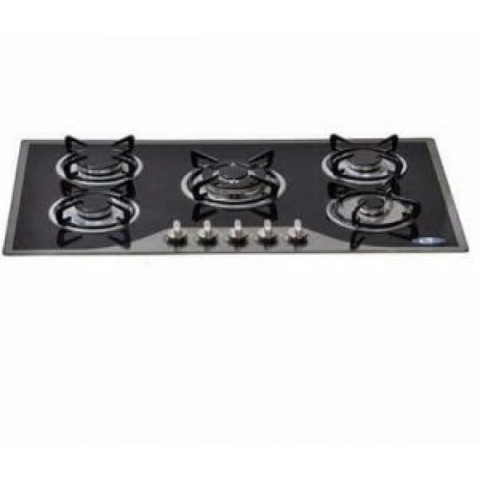 Omaha 5 Gas Burners Built In Hobs 21C0 | Glass and Auto Ignition
