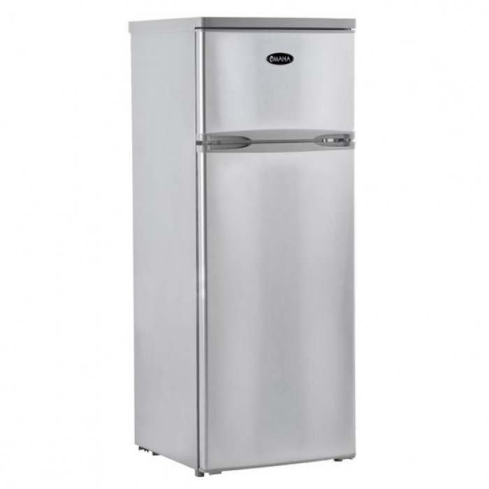 Omaha 300Ltrs Double Door Fridge/Freezer Silver Refrigerator | DF2-28