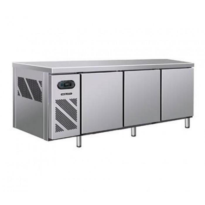 Omaha 3 Door Stainless Steel Industrial Counter Freezer   TNO-183F2