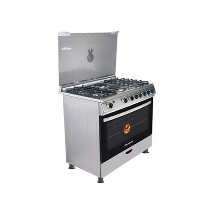 Polystar 4G+2E Burner Standing Gas Cooker Oven + Grill   PVND-BL950G2   4 Gas + 2 Electric Hotplates