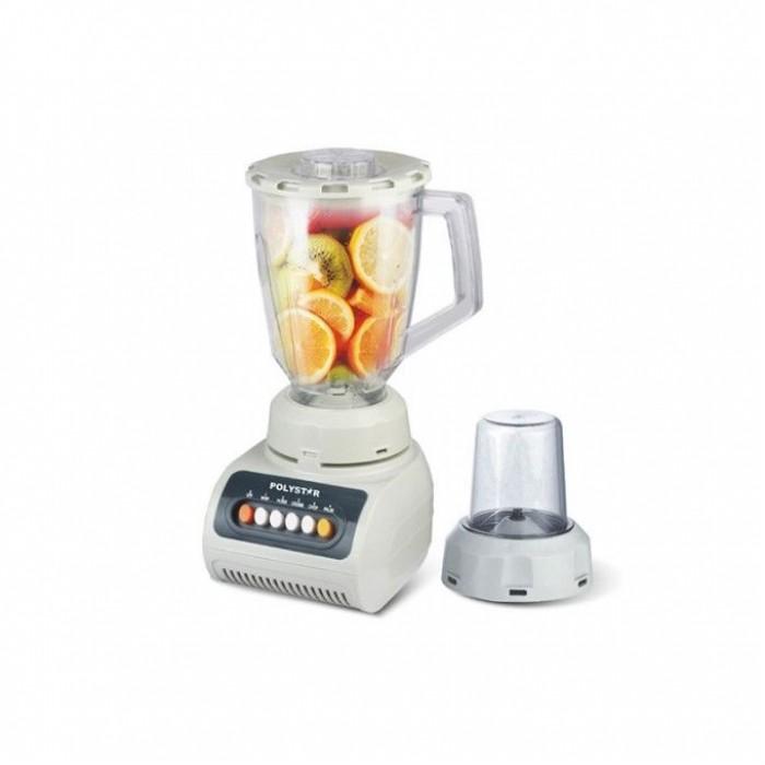 Polystar 2-In-1 Blender & Grinder | 1.5L Glass jar PV-BL999B