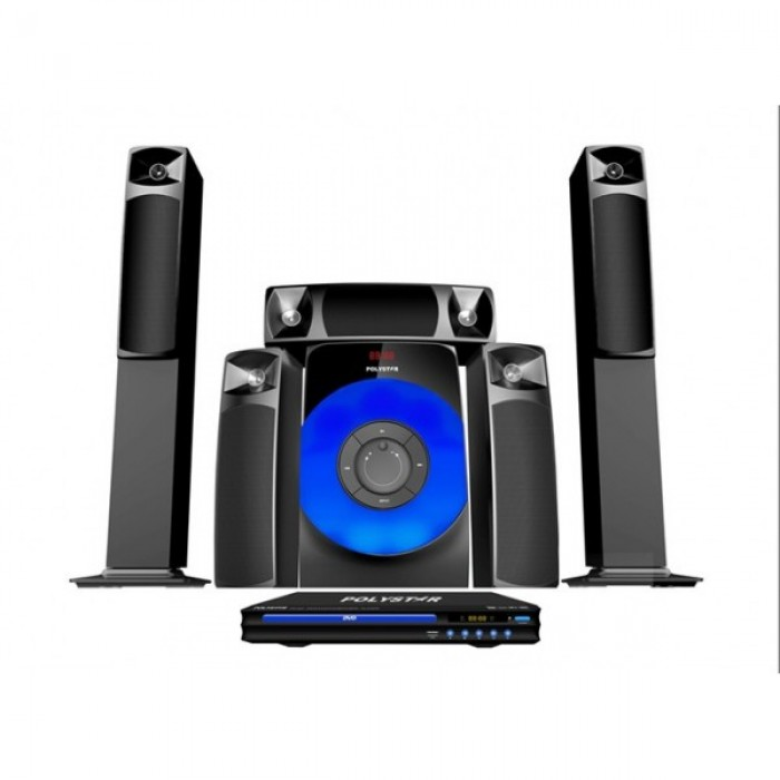 Polystar 5 Speakers & DVD Player Home Theatre System | PV-861.5.1
