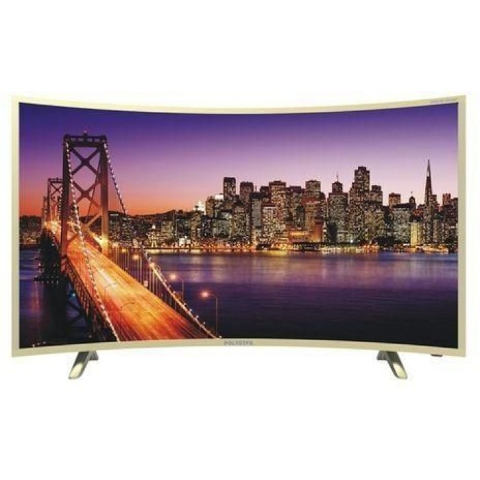 Polystar 43 Inches Curve Smart Android Television   PV-JP43CV2100SY Silver TV