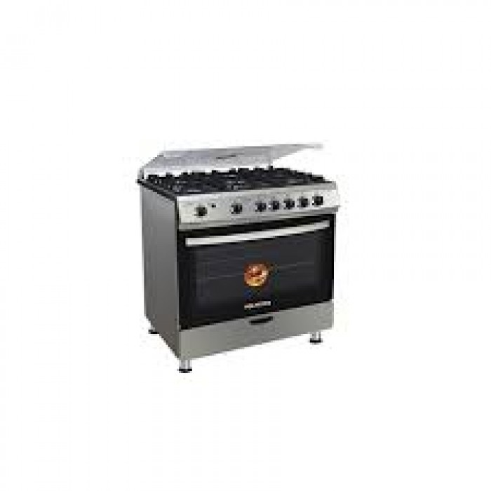 Polystar 5 Burner Gas, With Oven and Grill Stainless | PVFS-80GG5