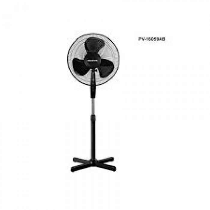 Polystar 16 Inches Standing Fan, 3 Speed Blades, Black | PV-16059AB