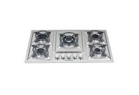 Polystar 5 Burners, Electric Ignition 7Mm Stainless Steel Panel (PV-HBS5816)