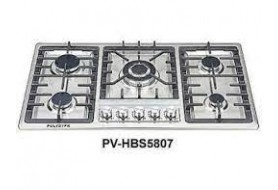 Polystar 5 Burners, Electric Ignition 7Mm Stainless Steel Panel (PV-HBS5807)