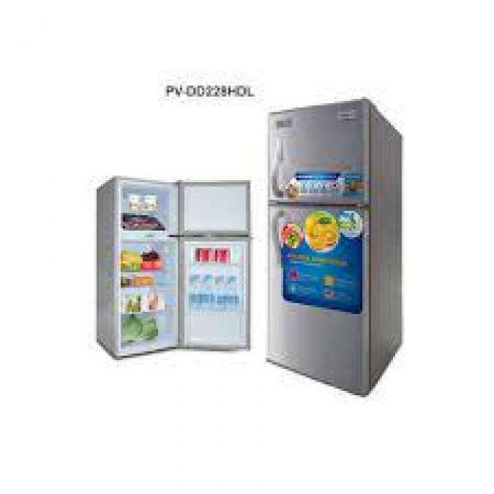 Polystar Double Door With Lock & Key Refrigerator (PV-DD228HDL)