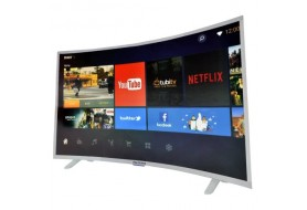 Polystar 40 Inches Curve Led Smart Android Television (Silver Color, PV-JP40CV2100RX)