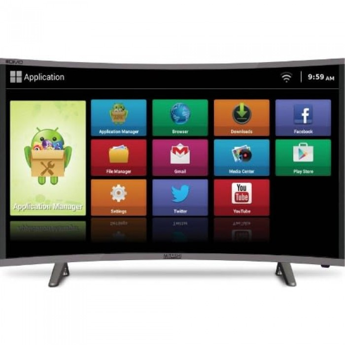 Polystar 32 Inches Curve Led Smart Android Television (Silver color PV-JP32CV110RX)