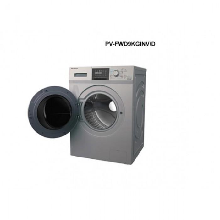 Polystar 9kg Inverter Front Loader Wash & Dry Washing machine (Silver color, PV-FWD9KGINV/D)