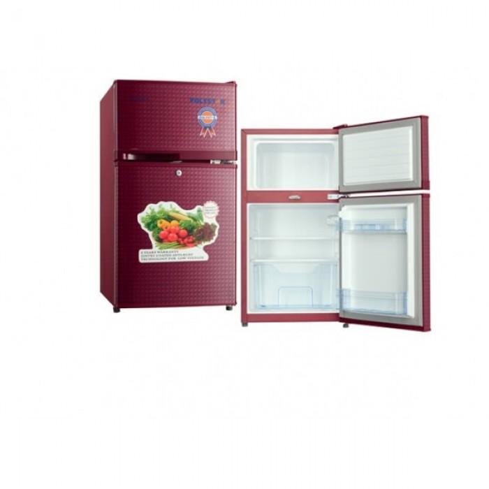 Polystar 80L Double Door Table Top Refrigerator Red | PV-DD203LR