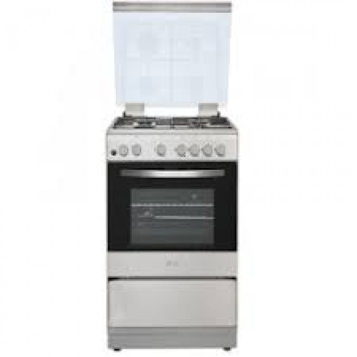 Royal 50x60 2 Gas Burner + 2 Hot Plate Free Standing Oven, Silver (ROY-GAS0039|RG-5622S)