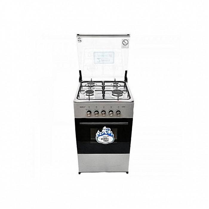 Scanfrost 4 Burner 50X55cm Gas Cooker Grey Finished | SFC5402S APSCCKFG07
