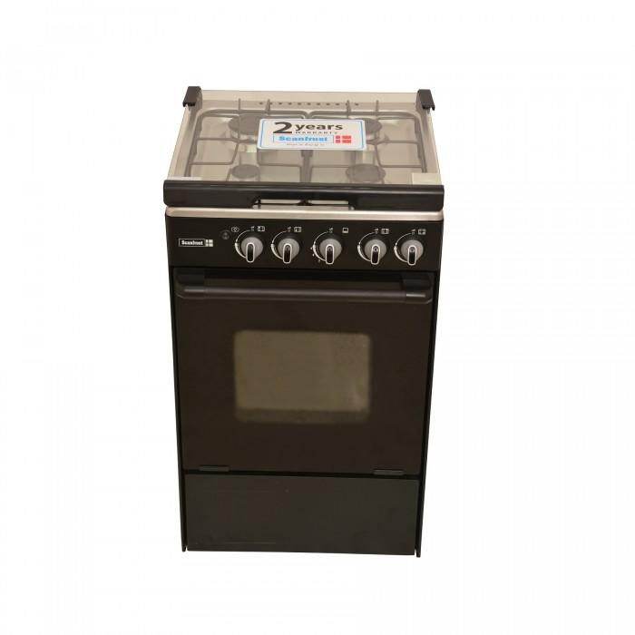 Scanfrost 4 Burner SFC5402B Gas Cooker 50X55cm | 5 Series APSCCKFG08 Black Finish
