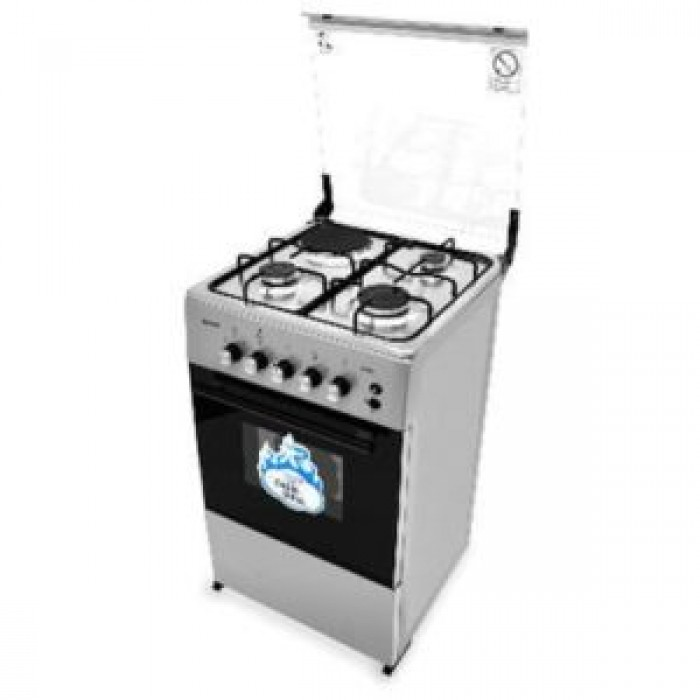 Scanfrost 3 Gas Burners + 1 Electric Hotplate Gas Cooker CK-5312NG 50X50cm   5-Series FS Cooker APSCCK0001