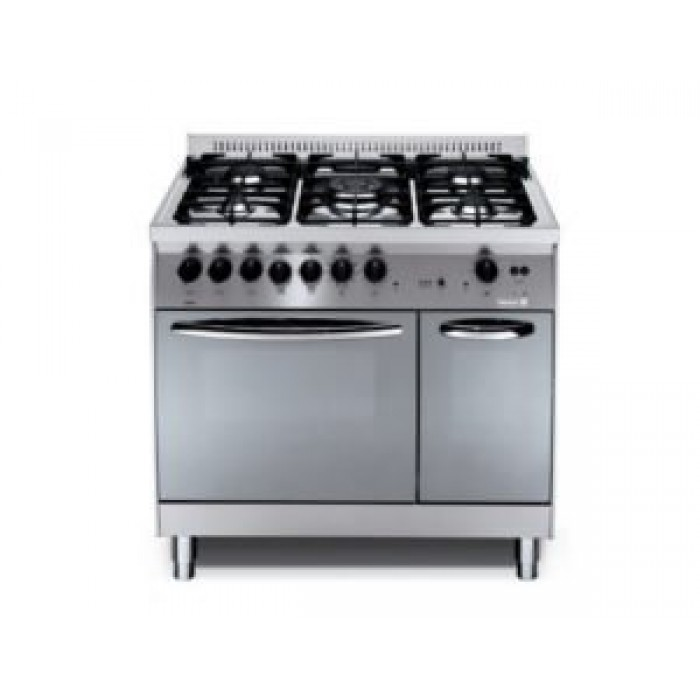 Scanfrost 5 Burner Gas Cooker XG96G2G/CI 90X60cm | Semi Professional Inox FS Cooker APSCCK1013