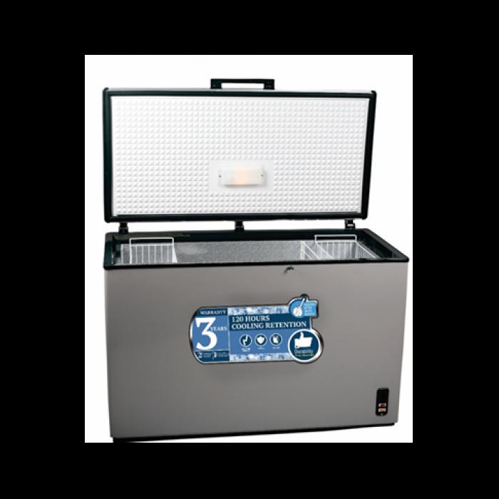 Scanfrost 375L Inox Chest Freezer SFL411X   APSCFZFG14