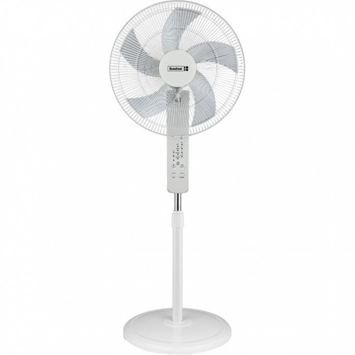 Scanfrost 18-Inch Standing Fan With Remote SFRF18RCW | APSCFNFG10 White Colour