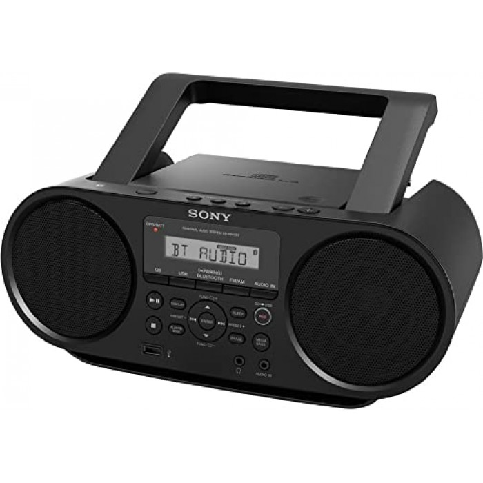 Sony CD Boombox With Bluetooth & USB Playback ZS-RS60BT | Personal Audio APSYAD0039