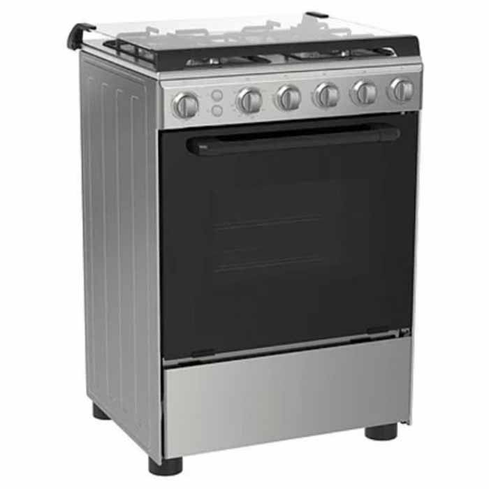 Midea 4-Gas Burners Stainless Steel Gas Cooker 60*55 24BMG4G058-I|Front and Silver Side (Black)