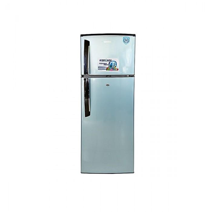 BRUHM 225L Double Door Refrigerator Silver BRD-225