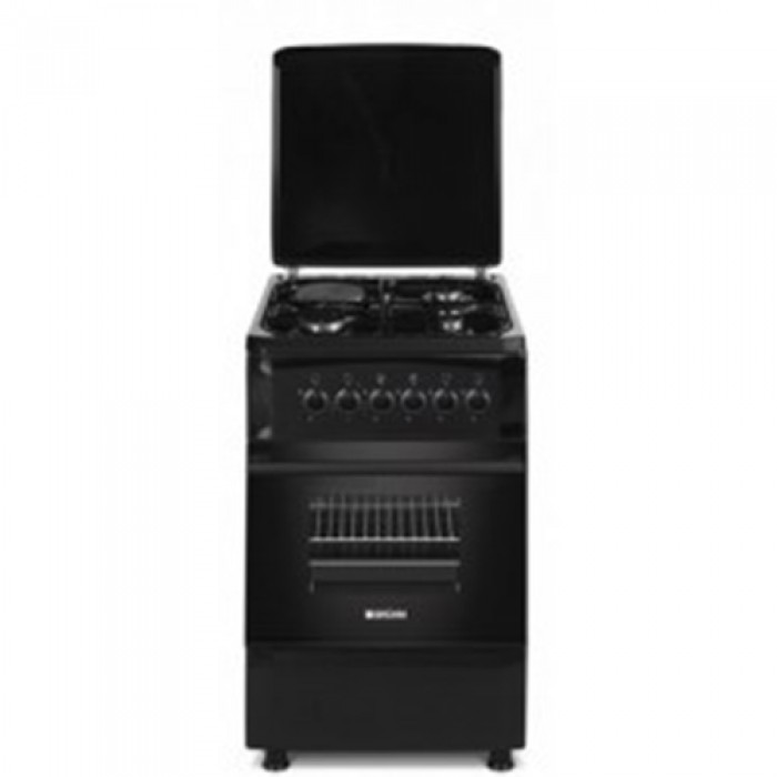 BRUHM 50 by 50 3 GAS + 1 Electric Gas Cooker Black ¦ BGC-5531SB